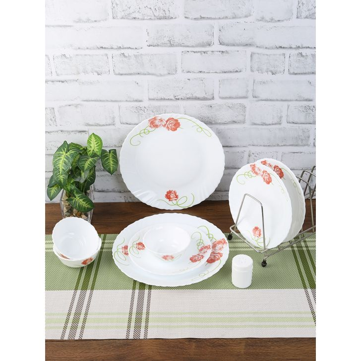 Laopala Opalware Dinner Set 20 Pieces in Multi Colour by Laopala