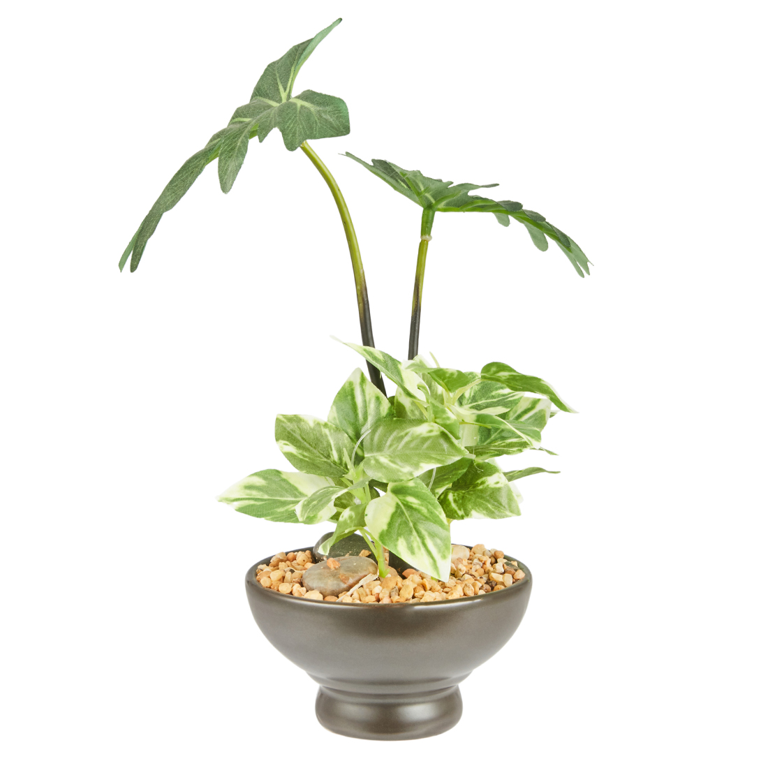 Sage Philoden Plant 23 Cm Artificial Plants in Green Colour by Living Essence