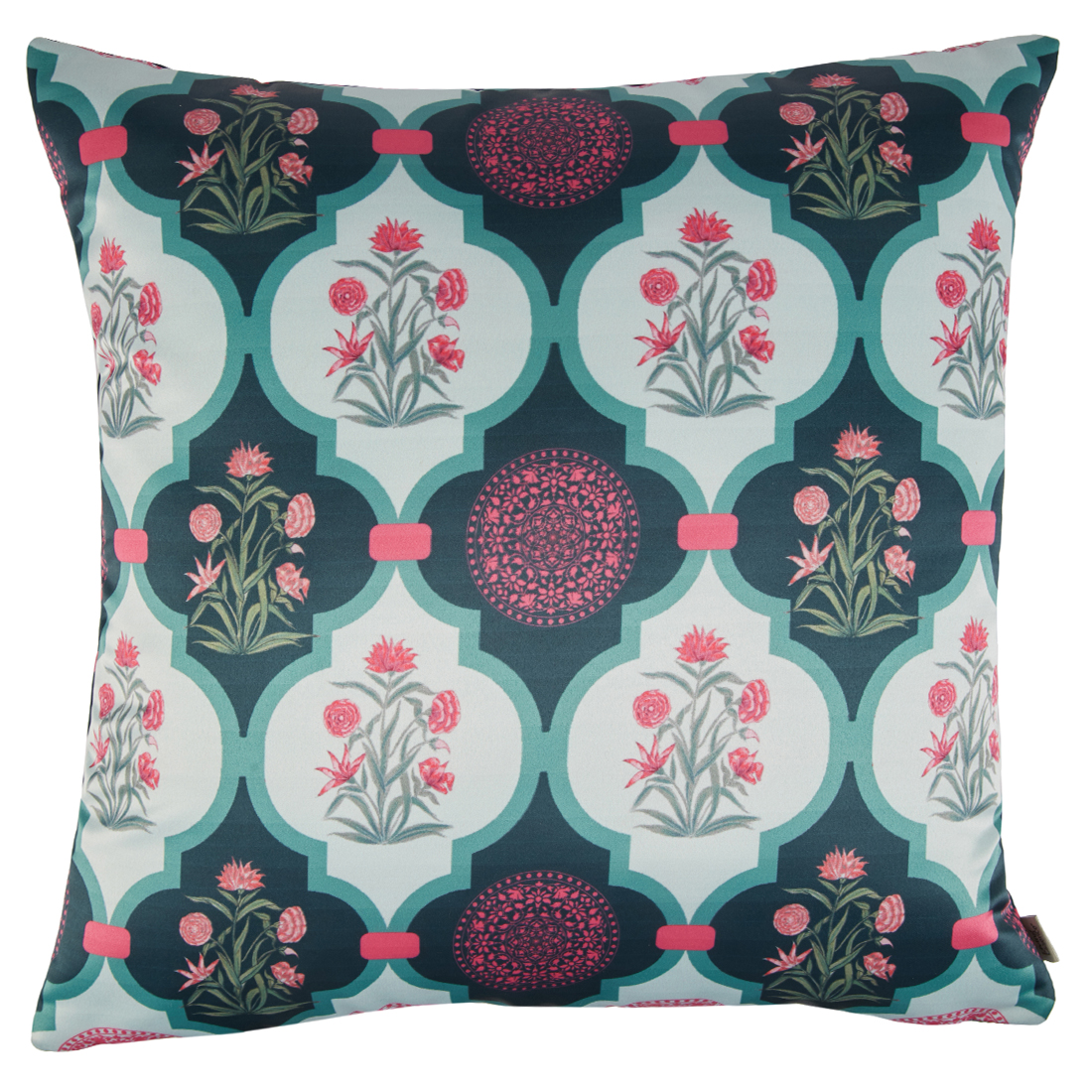 Digital Cushion Cover Ogee Motif Cushion Covers in Poly Satin Colour by Living Essence