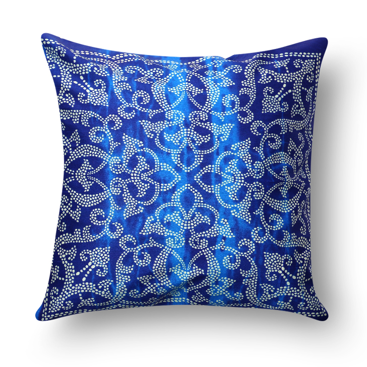 Living Essence Polyester Cushion Covers in Nile Indigo Colour by Living Essence