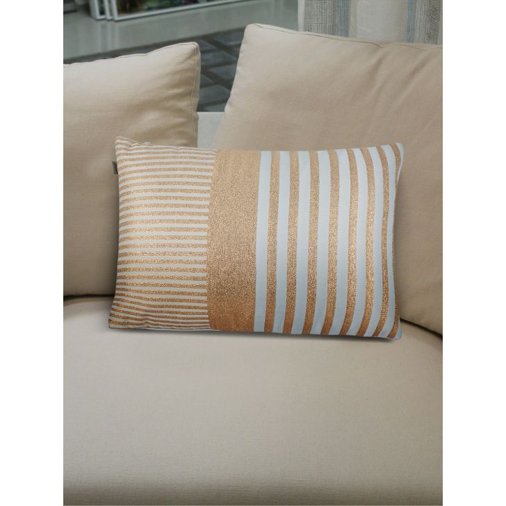 Modern Yanis Polyester Cushion Covers in Gold Colour by Living Essence