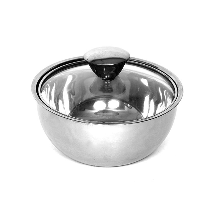 Living Essence Glass Casseroles in Silver Colour by Living Essence