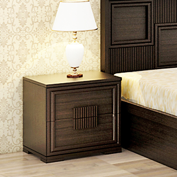 Majestic Engineered Wood Bedside Table in Vermount Colour by HomeTown