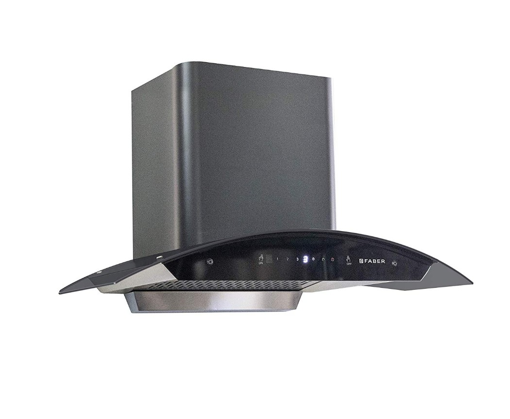 Faber Stainless steel Chimney Hood Crest HC SC BK 90 by HomeTown