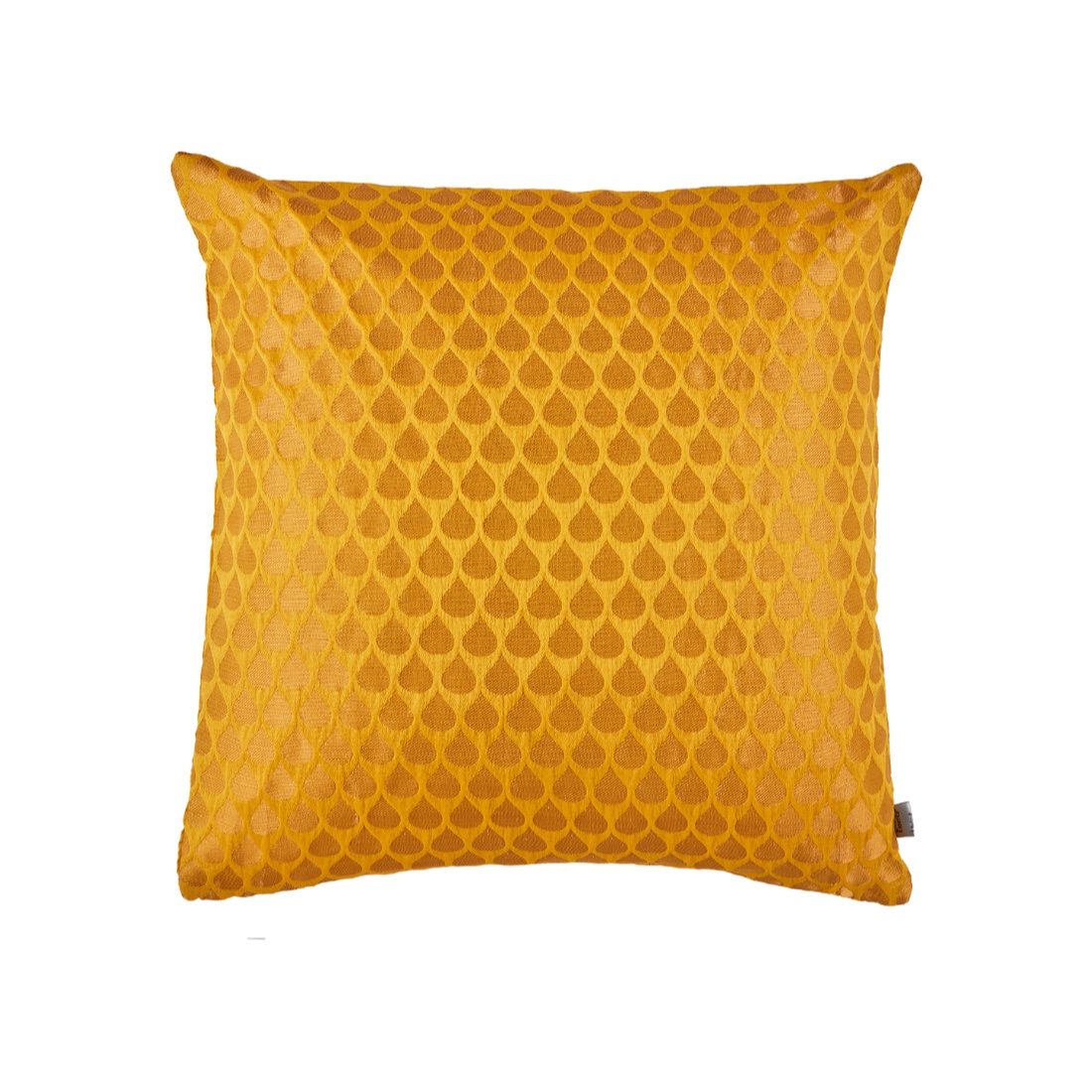 Drop Cushion Cover Yellow Polyester Cushion Covers in Yellow Colour by Living Essence