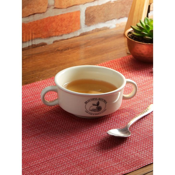 Living Essence Ceramic Bowl in White Colour by Living Essence