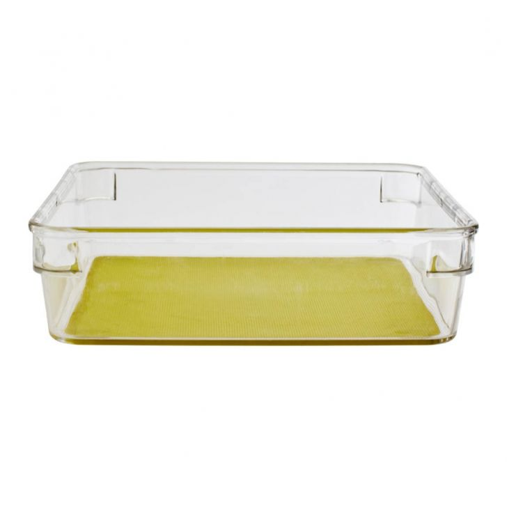 Square Organizer Storage Box Plastic Kitchen Organizers in Translucent Colour by Living Essence
