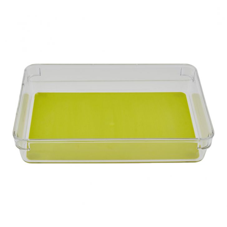 Oraganiser Storage Box Plastic Kitchen Organizers in Transparent Colour by Living Essence