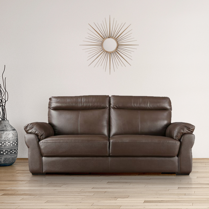 Radbourne Half Leather Two Seater sofa in Brown Colour by HomeTown