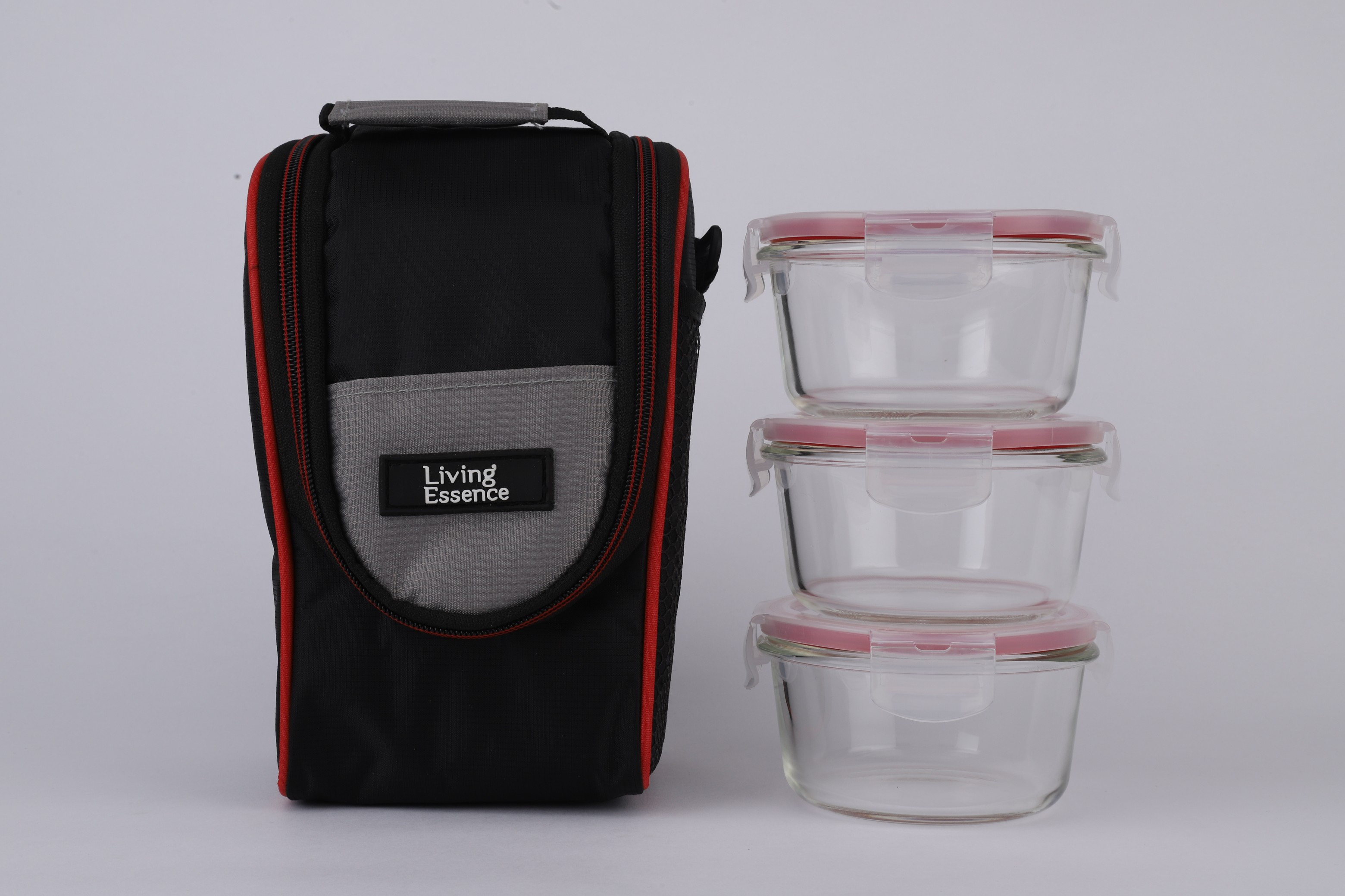 LE Borosilicate Lunch Set Of 3  in Transparent Colour by Living Essence