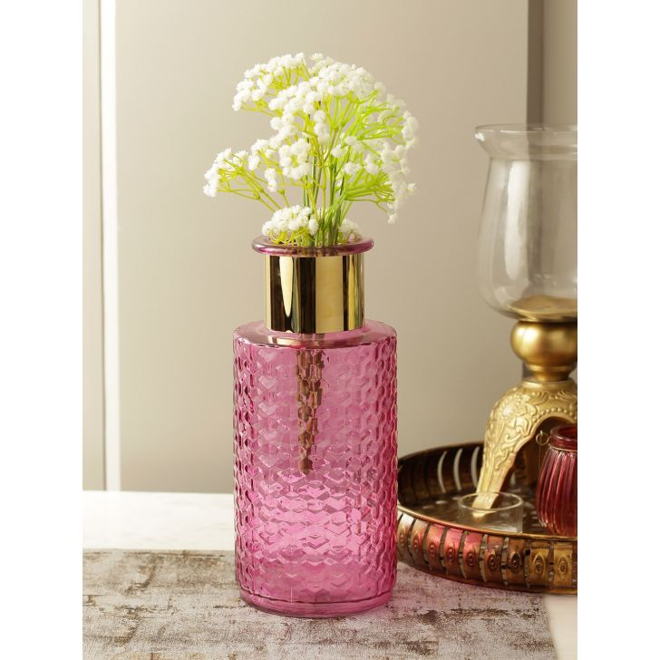 Marvela Glass Vase in Pink Colour by HomeTown