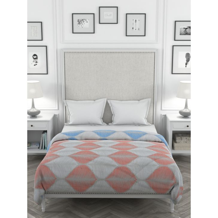 Azure Cotton Double Comforter 216 x 269 cms in Turquise Colour