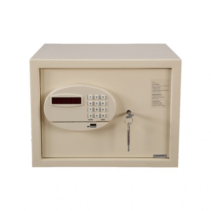 Aegis Mild Steel Safe in ivory white Colour by HomeTown