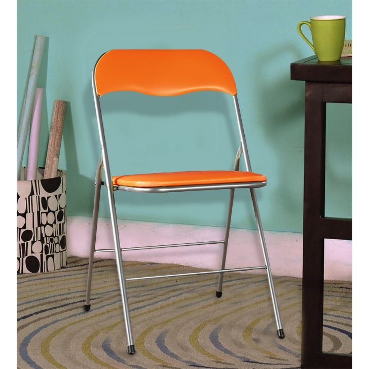 Enzo Metal Outdoor Chair in Orange Colour by HomeTown