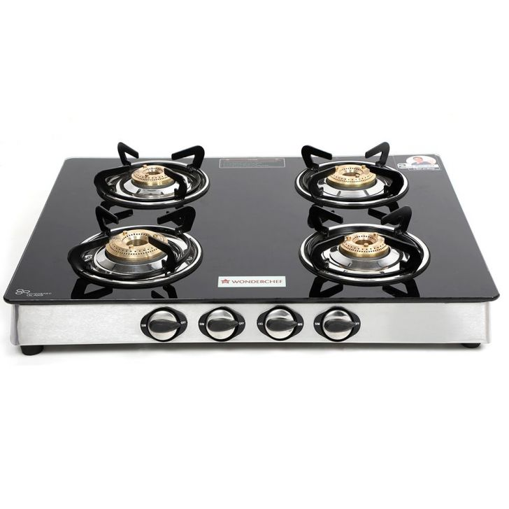 Wonderchef Brass Cook Stove in Black & Silver Colour by Wonderchef