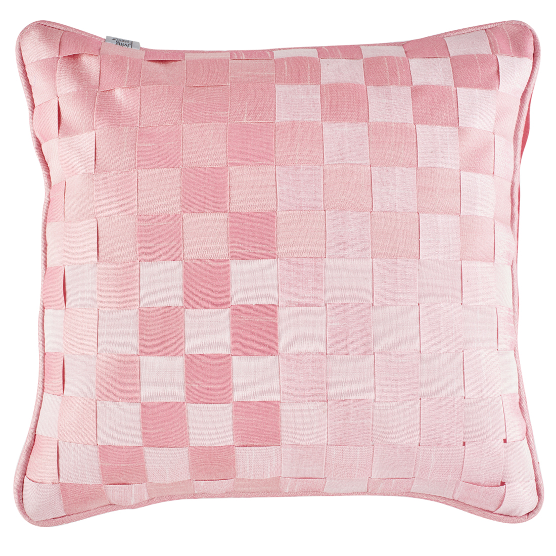 Basket Polyester Cushion Covers in Rose Colour by Living Essence