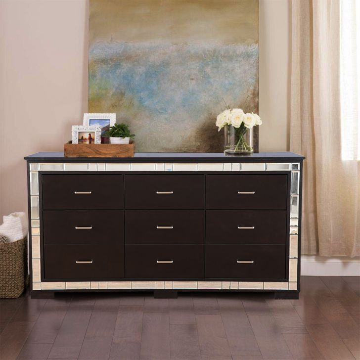 Madrid Solid Wood Sideboard in Cappucino Colour by HomeTown