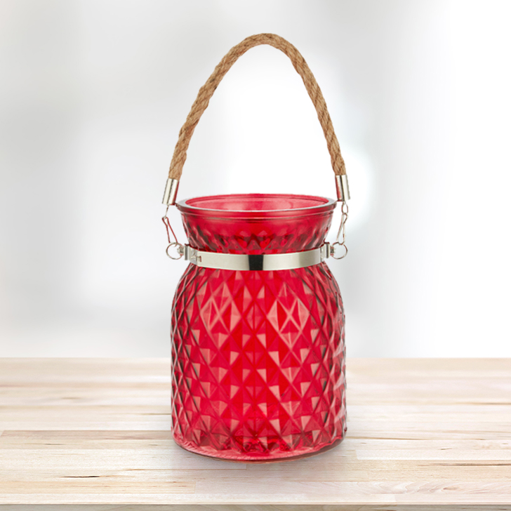 Meira Red Lustre Vase With Handle