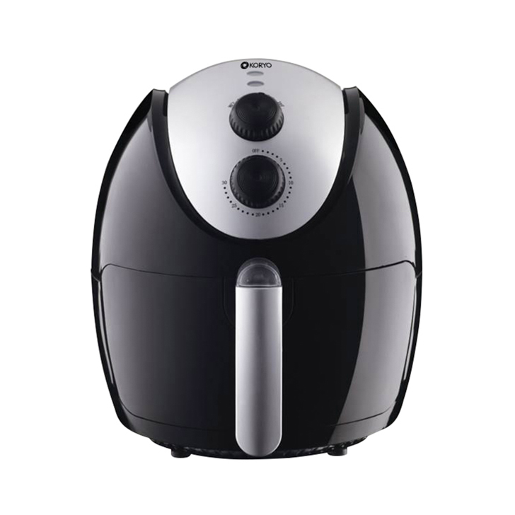 Healthy Air Fryer (1500 W) - 2.6 Litres - Black by Koryo