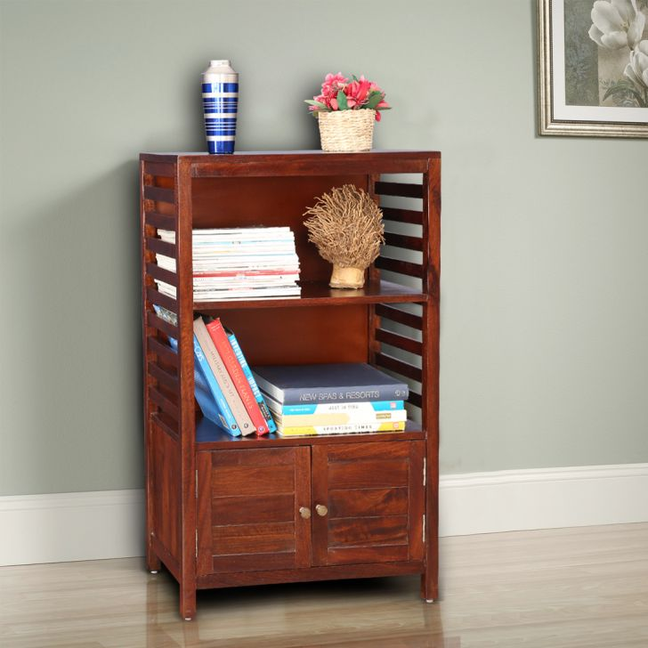 Telford Solid Wood Book Shelf in Chest Nut Colour by HomeTown