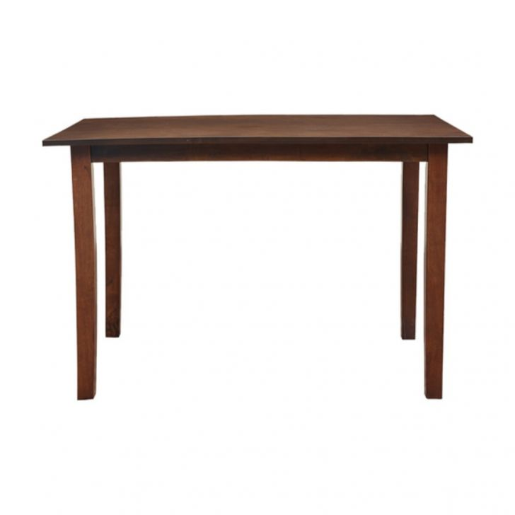 Eva Engineered Wood Four Seater Dining Table in Wenge & Brown Colour by HomeTown