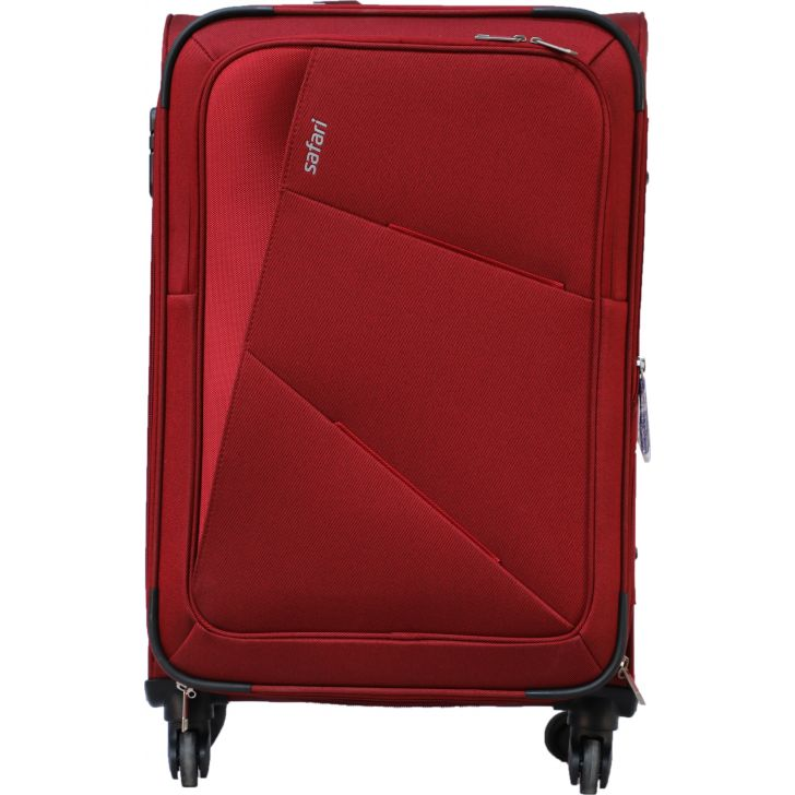 Safari Glide Spinner Soft Trolley 59 cm Red