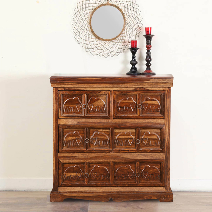Tuskar Rubber Wood Chest of Darwer in Walnut Colour by HomeTown