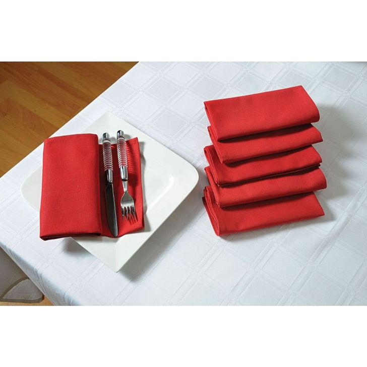 Solid Table Napkin In Maroon Color By Swayam