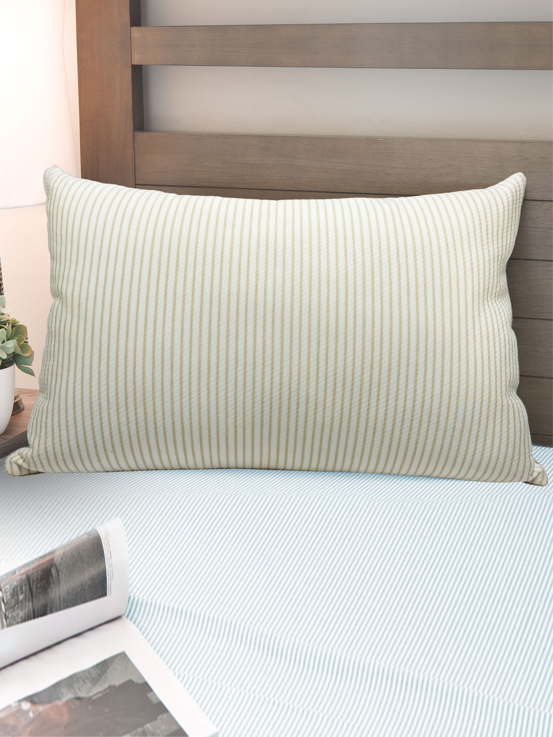 Copper Pillow Beige Cotton Fibre Pillows in White, Beige Colour by Tangerine
