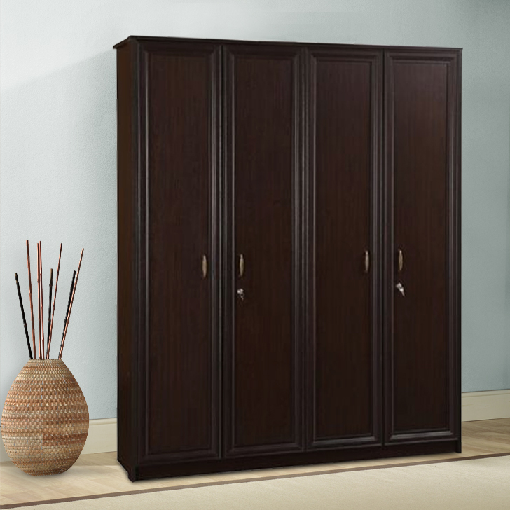 Savana Engineered Wood Four Door Wardrobe in Vermount Colour by HomeTown