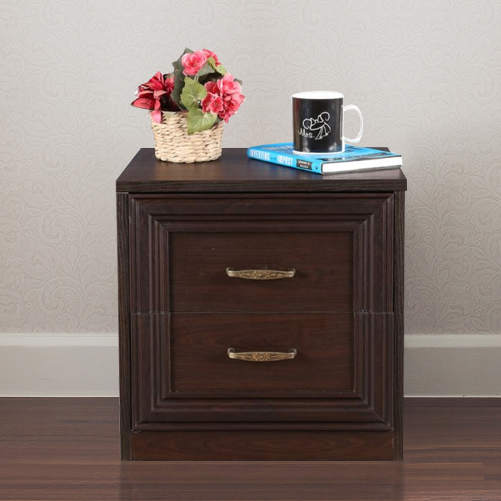 Savana Engineered Wood Bedside Table in Vermount Colour by HomeTown