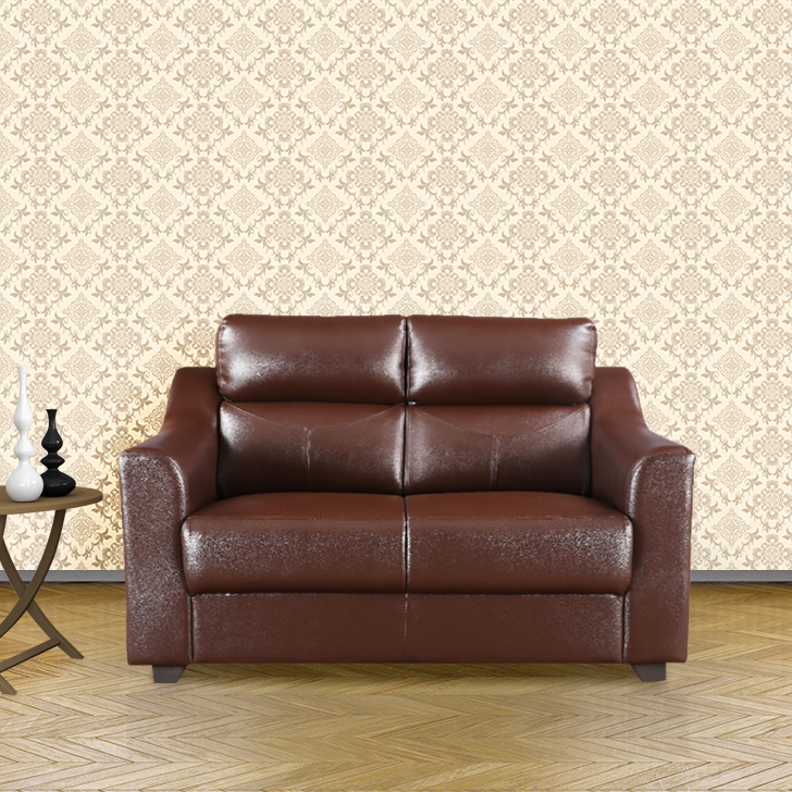 Alfred Two Seater Sofa in Brown Colour by HomeTown