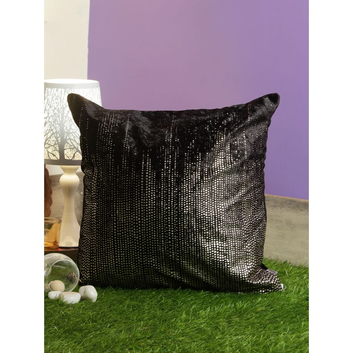 Speckle Memory Foam Cushion Covers in Black Colour by Living Essence