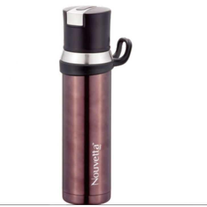 Nouvetta Vicenza bottle double wall 550 ML Brown Stainless steel Thermoware in Brown Colour