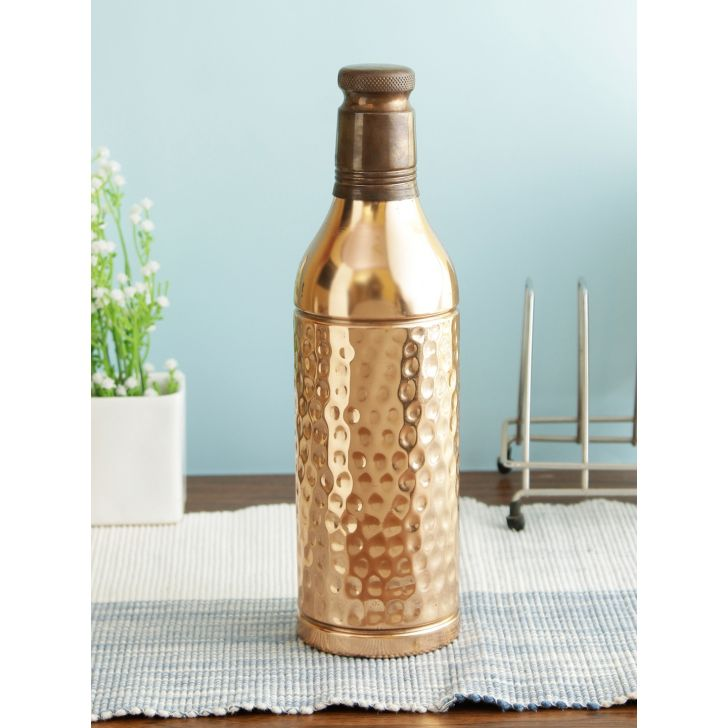 Mineral Copper Bottle 1 Ltr in Copper Colour by Living Essence