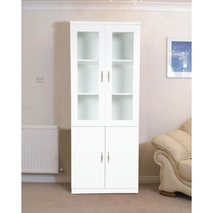 Legacy Engineered Wood Book Shelf in White Colour by HomeTown