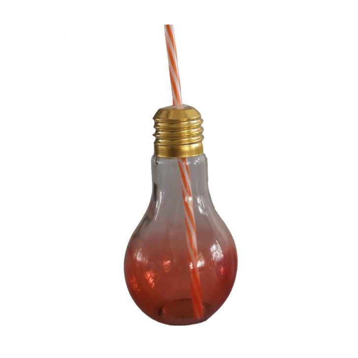Ombre Tangello Bulb Sipper Glass Sippers in Orange Colour by HomeTown