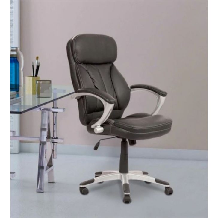Star Leatherette Office Chair in Black Colour