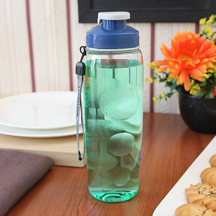Lock & Lock Clear & Blue Sports Bottle Polycarbonate Containers in Transparent Colour by Lock & Lock