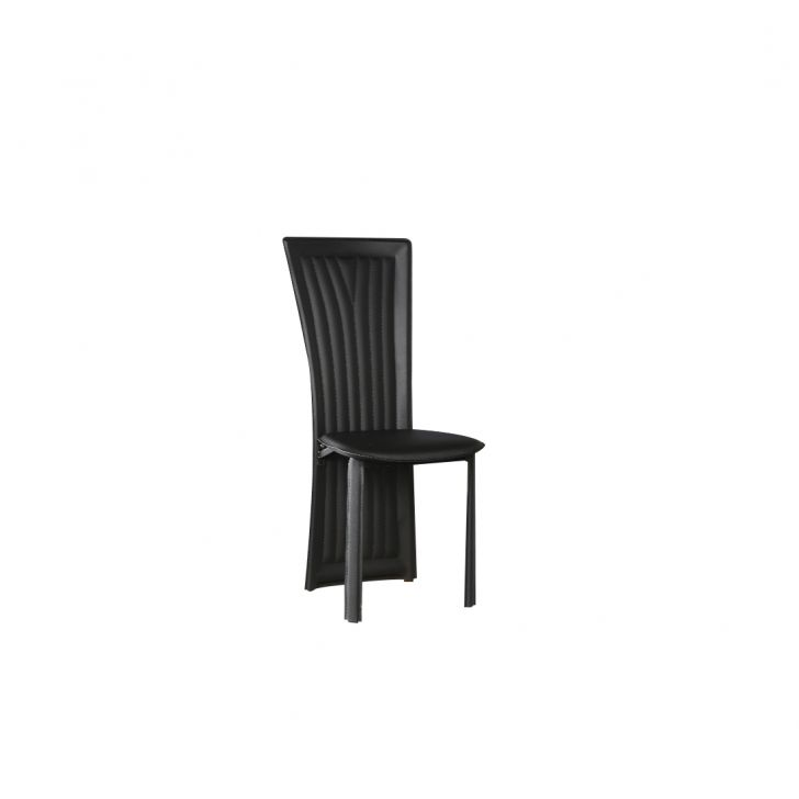 Costa Metal Dining Chair Set of Six in Black & White Colour by HomeTown