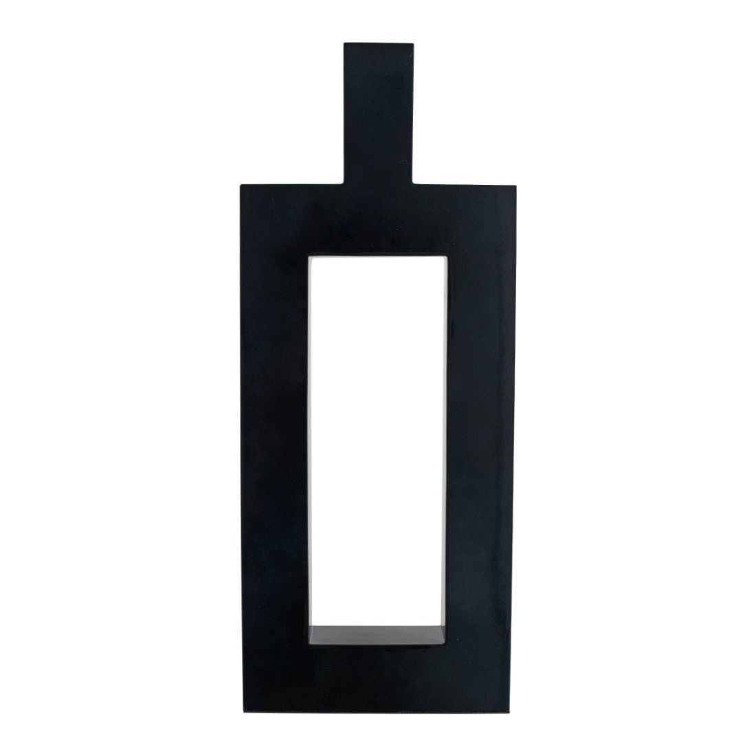 Rectangular Cutout Modern Vase Grey MDF Vases in Grey Colour by Living Essence