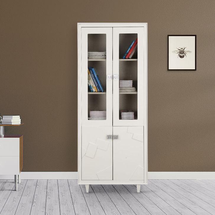 Norah Engineered Wood Book Shelf in White Colour by HomeTown