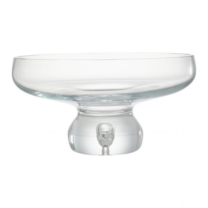 Nile Fotted Glass Bowl 30 Cm Glass Table D in CLEAR Colour by Living Essence