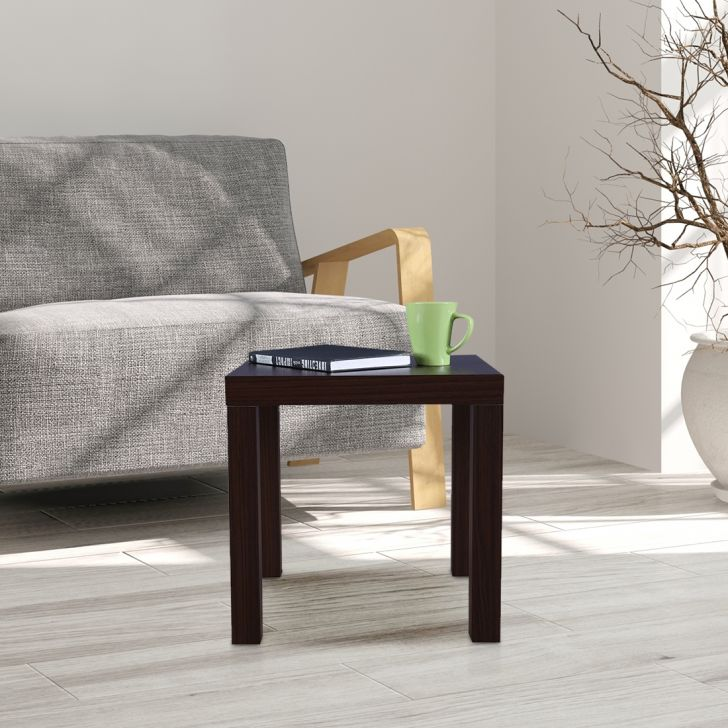 Larix Engineered Wood Side Table in Brown Colour by HomeTown