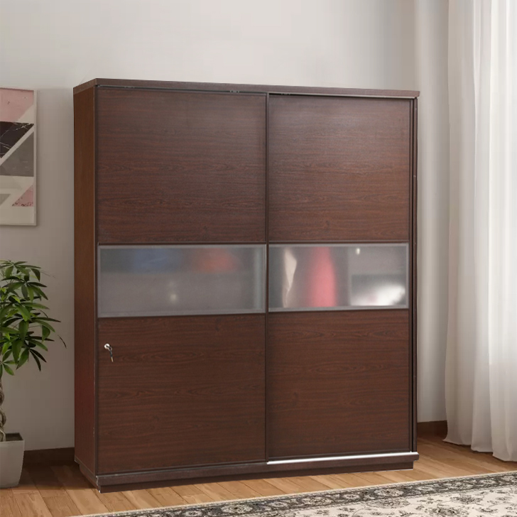 Magnum Engineered Wood Sliding Wardrobe in Vermount Colour by HomeTown