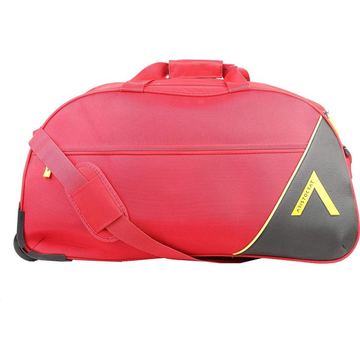 Dream Nxt 65 cm Polyester Duffle on Wheel in Red Colour by Aristocrat
