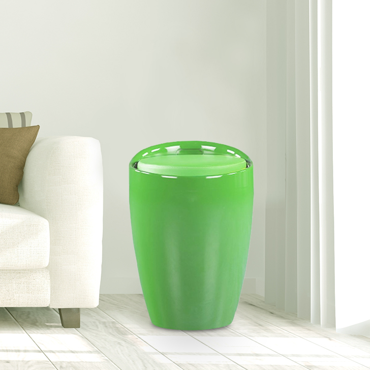 Luna ABS Ottomans and Pouf in Green Apple Colour by HomeTown