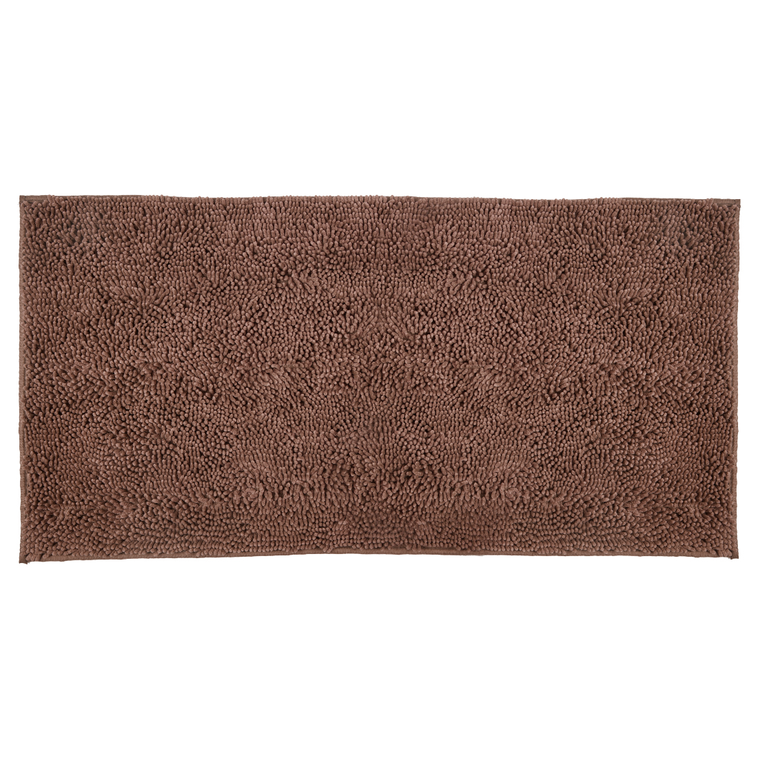 Bath Runner Nora Chenille Brown Chenille Bath Mats in Brown Colour by Living Essence