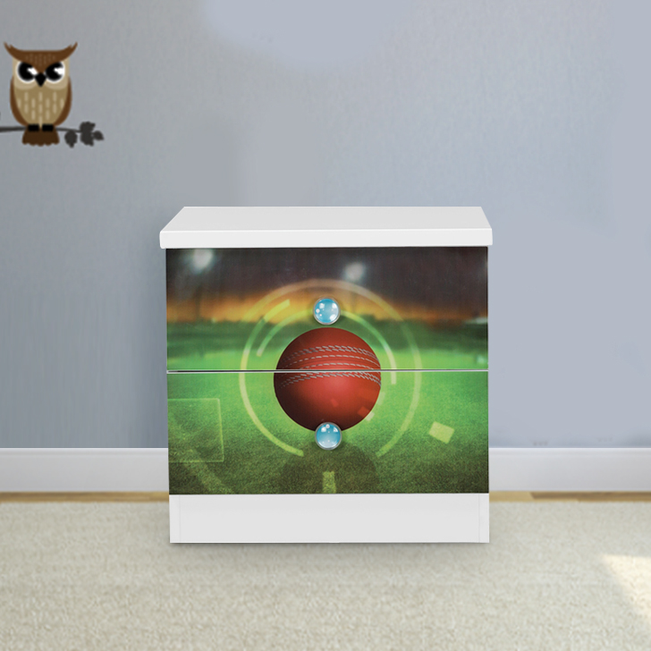 Pollard Engineered Wood Bedside Table in Multicolor Colour by HomeTown