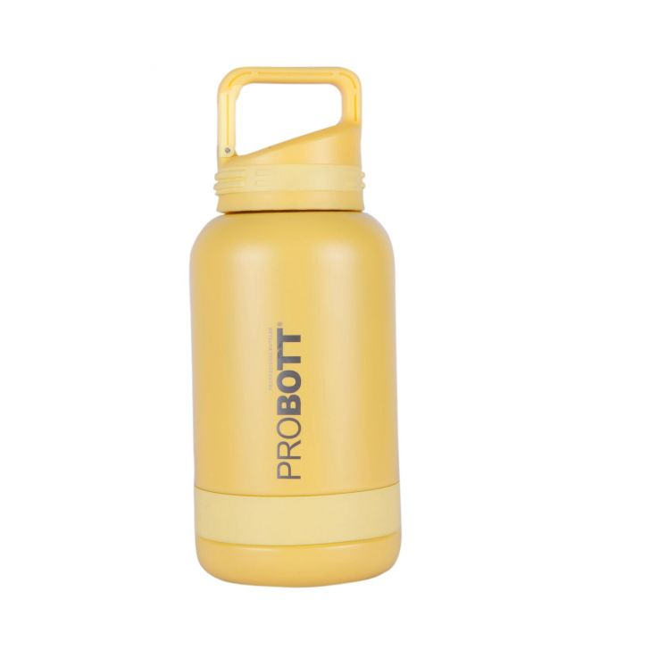 Probott Vacuum Flask 500 Ml Assorted With Sling Cover Stainless steel Thermoware in Yellow / Pink / Blue / Purple Colour by Probott